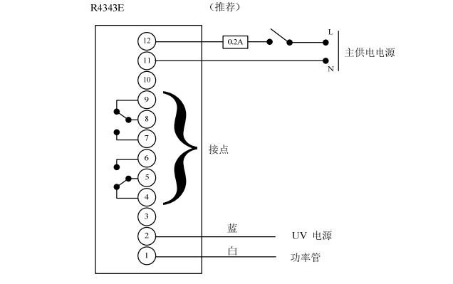 光电管)配用,r4343e与c7027,c7035小窥管紫外线火焰探头配用.